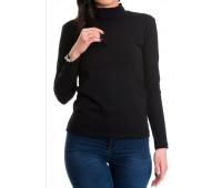 Дамска блуза с дълъг ръкав полуполо
